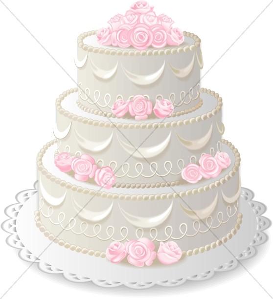 Three Layer Anniversary Cake.
