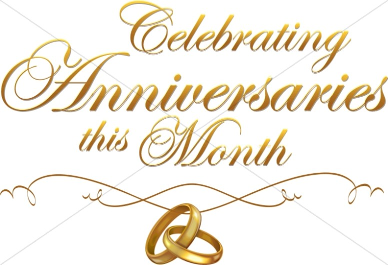 Multiple Anniversary Celebration script with rings.