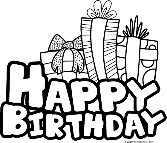 Happy Birthday Banner Clipart Black And Wh #106918.