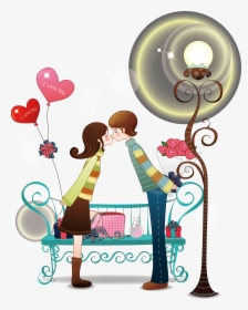 Couple Love Cartoon Png Image High Quality Clipart.