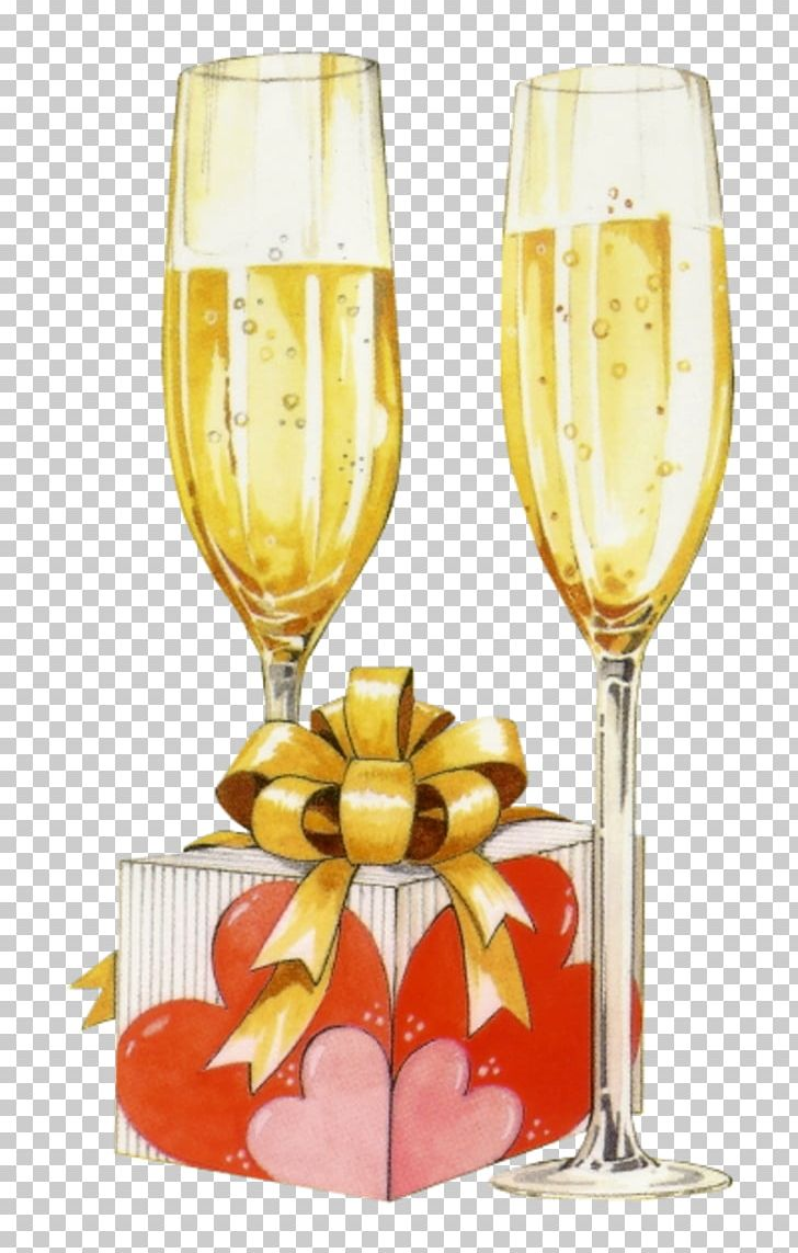 Champagne Birthday Greeting & Note Cards Wish Wine Glass PNG.