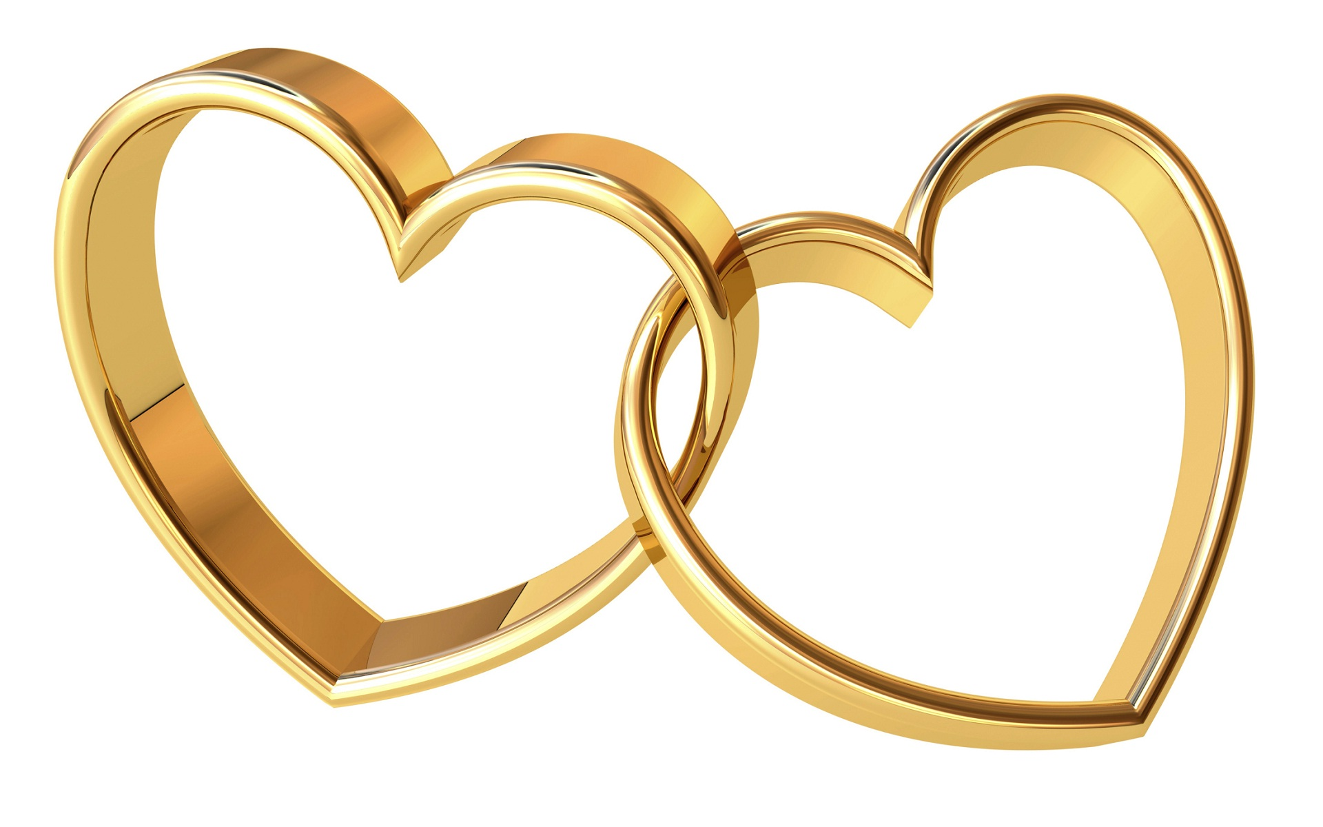 Gold rings heart shape happy anniversary.