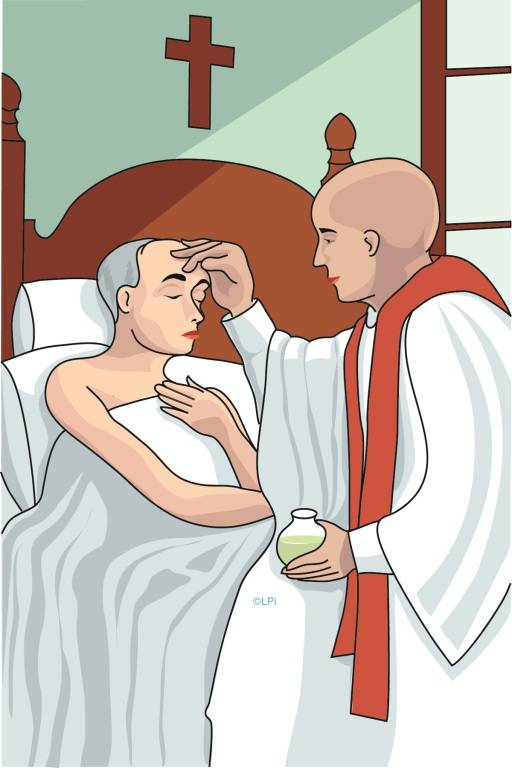 Anointing Of The Sick Clipart.