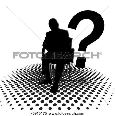 Stock Illustration of anonymous silhouette and question m k5915175.