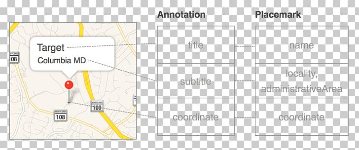 Paper Product design Line Diagram, map annotation PNG.