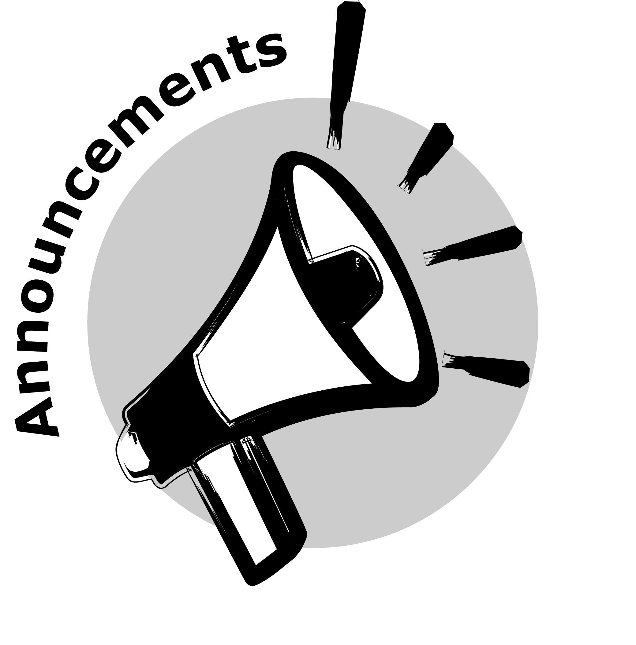 Free clipart megaphone announcement.