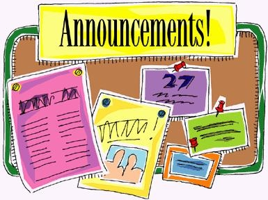 Announcement clipart #11