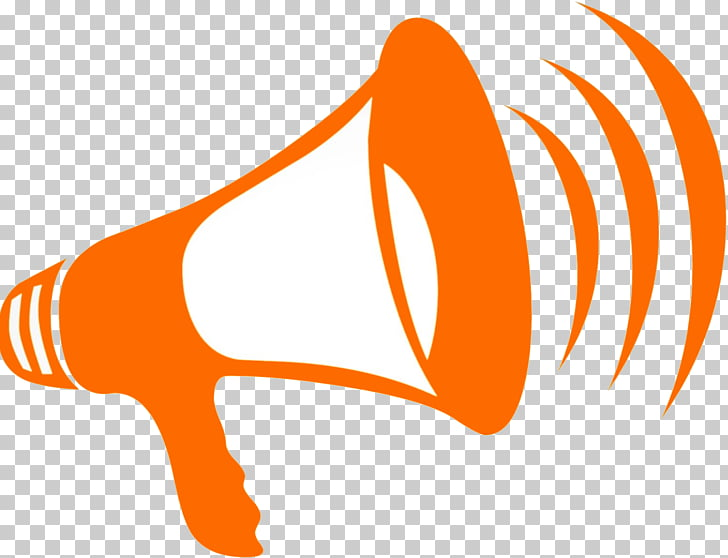 Megaphone Computer Icons , Announcement, orange megaphone.