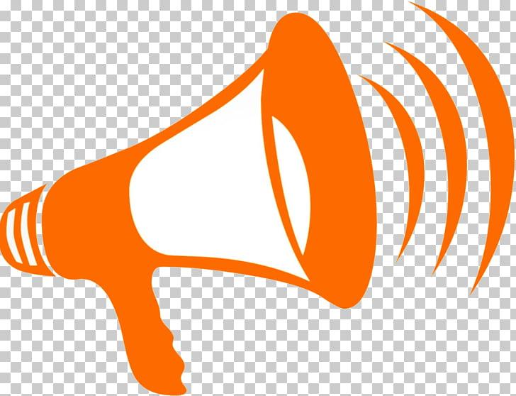 Megaphone Computer Icons , Announcement, orange megaphone.