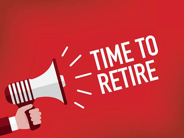 Best Retirement Announcement Illustrations, Royalty.