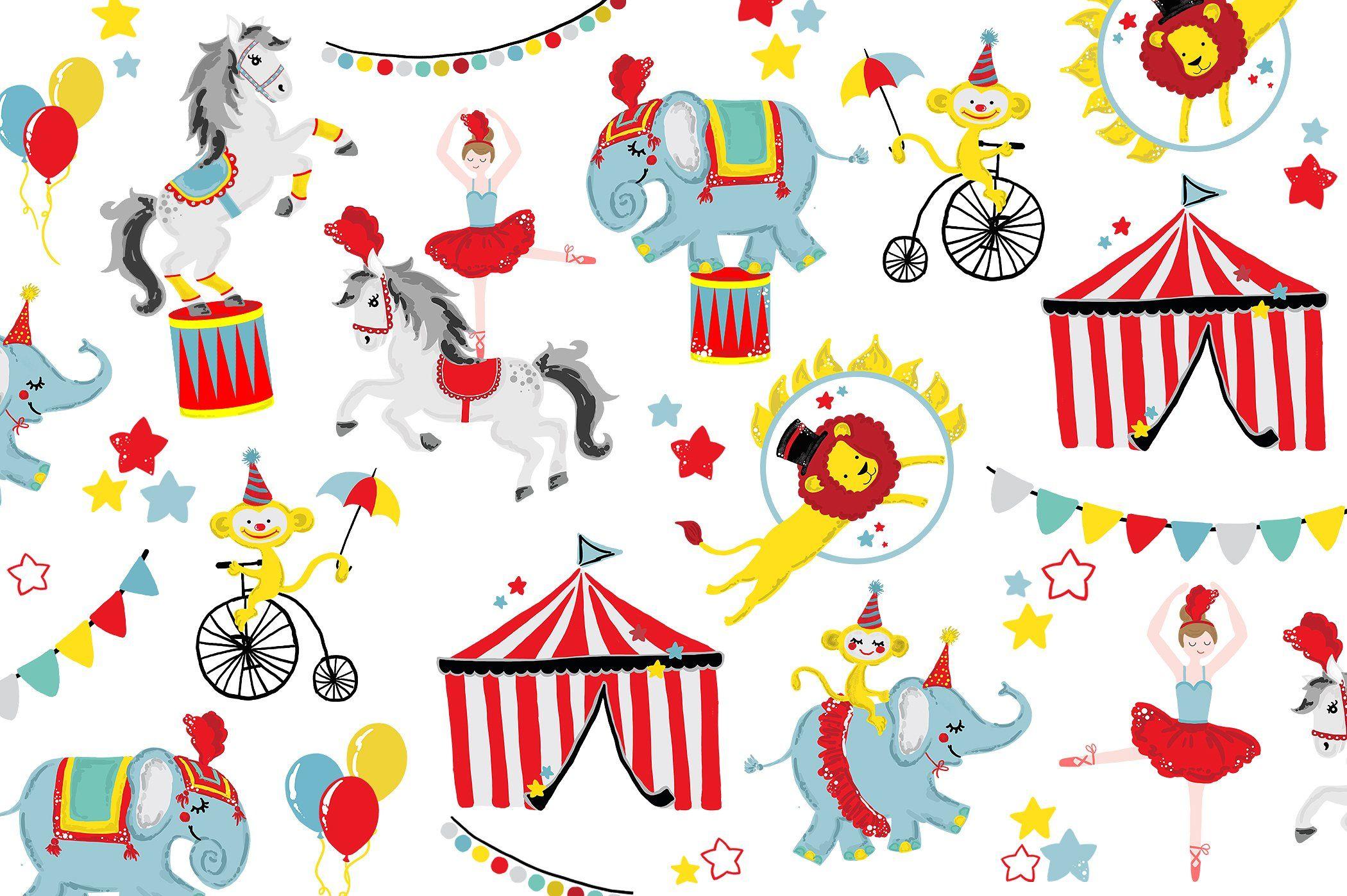 Circus Carnival Clip Art #Pony#Logo#Lion#Horse.