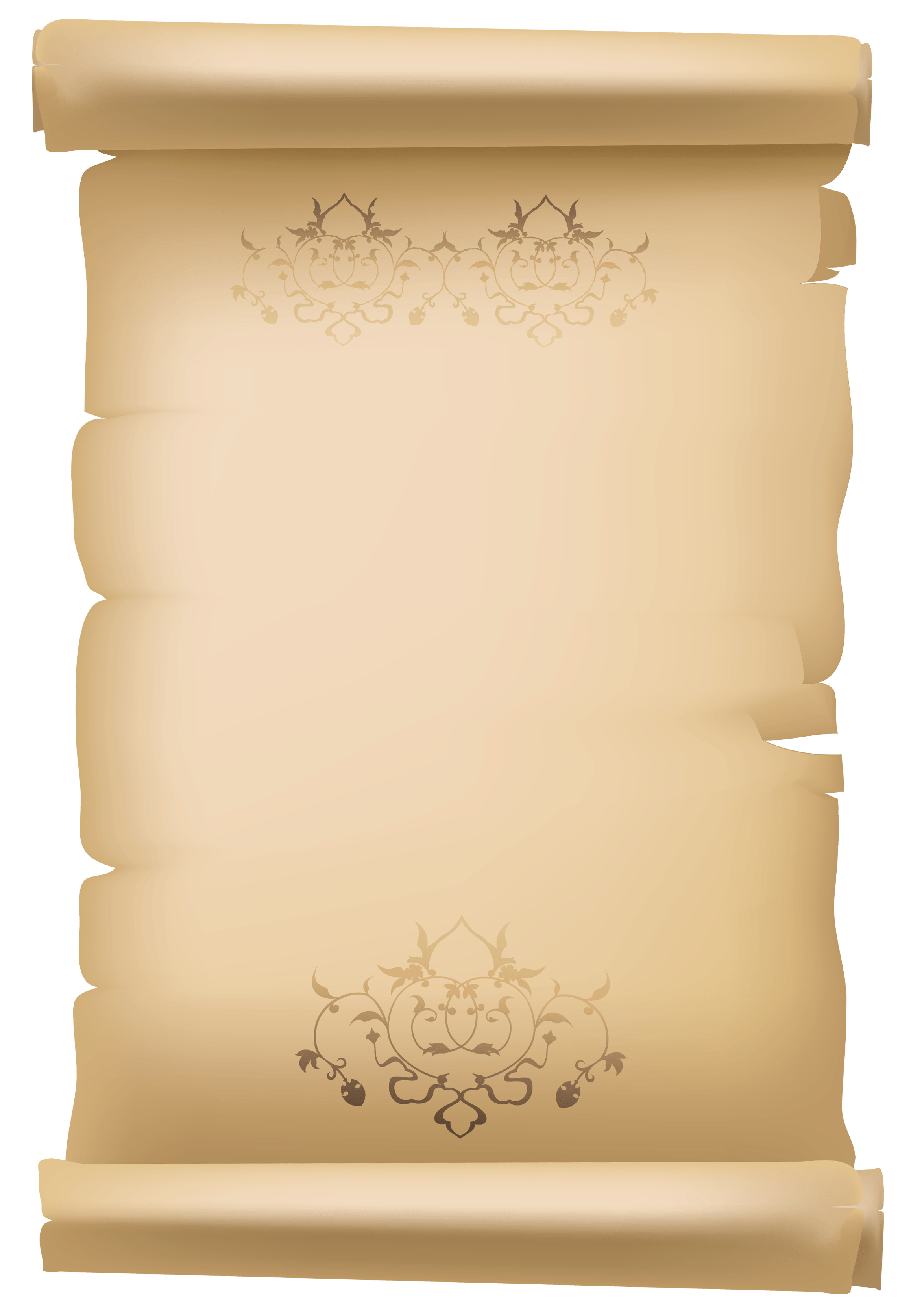 Announcement scroll clipart.