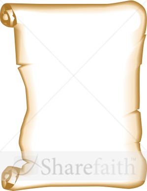 2107 Scroll free clipart.