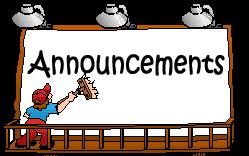 School announcement clipart.
