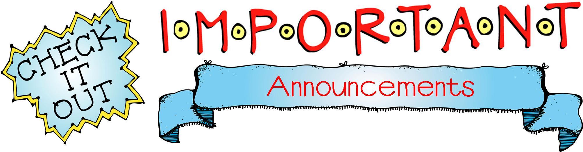 Announcements Clipart.
