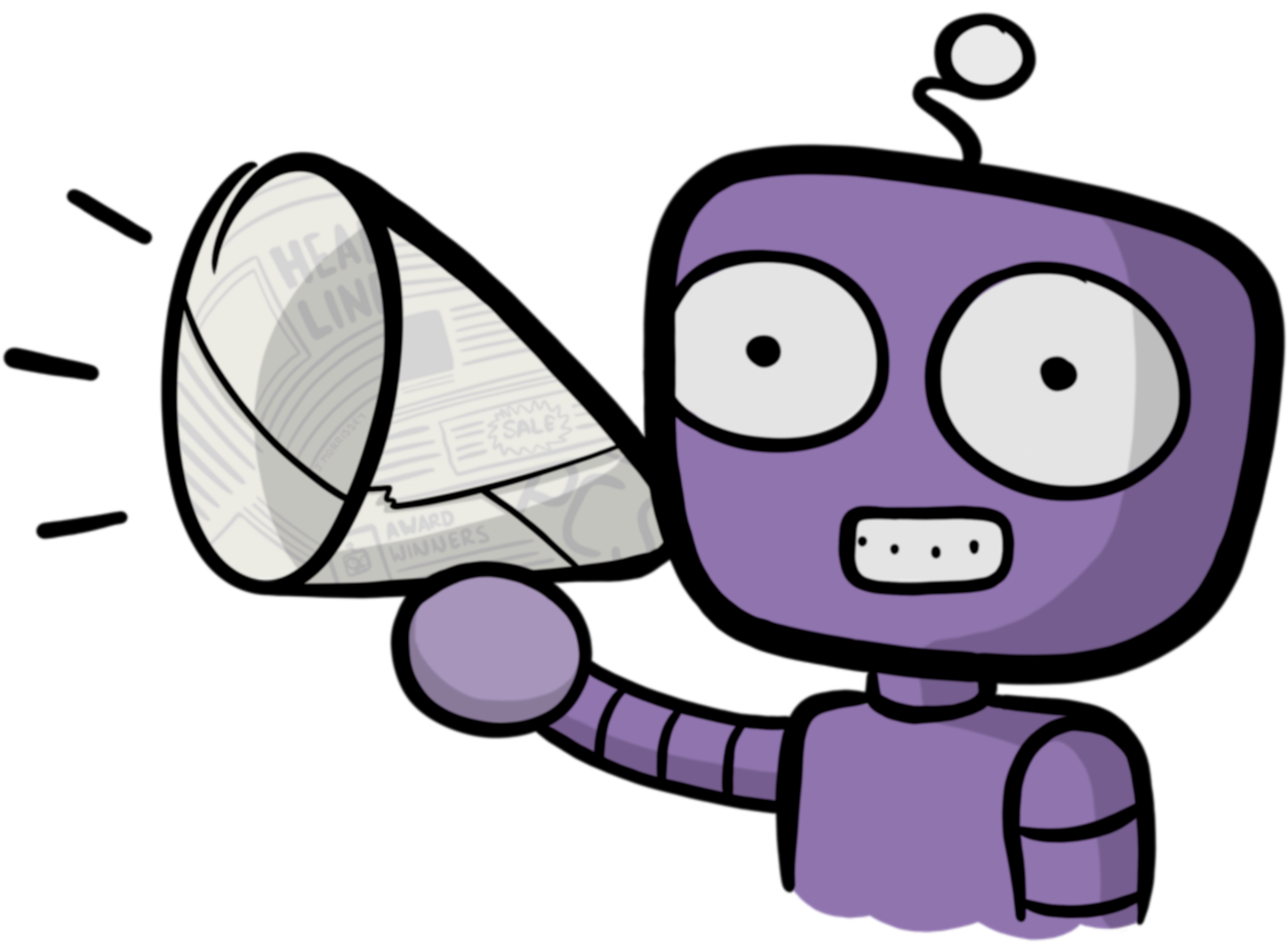 Announcement Clipart Purple.