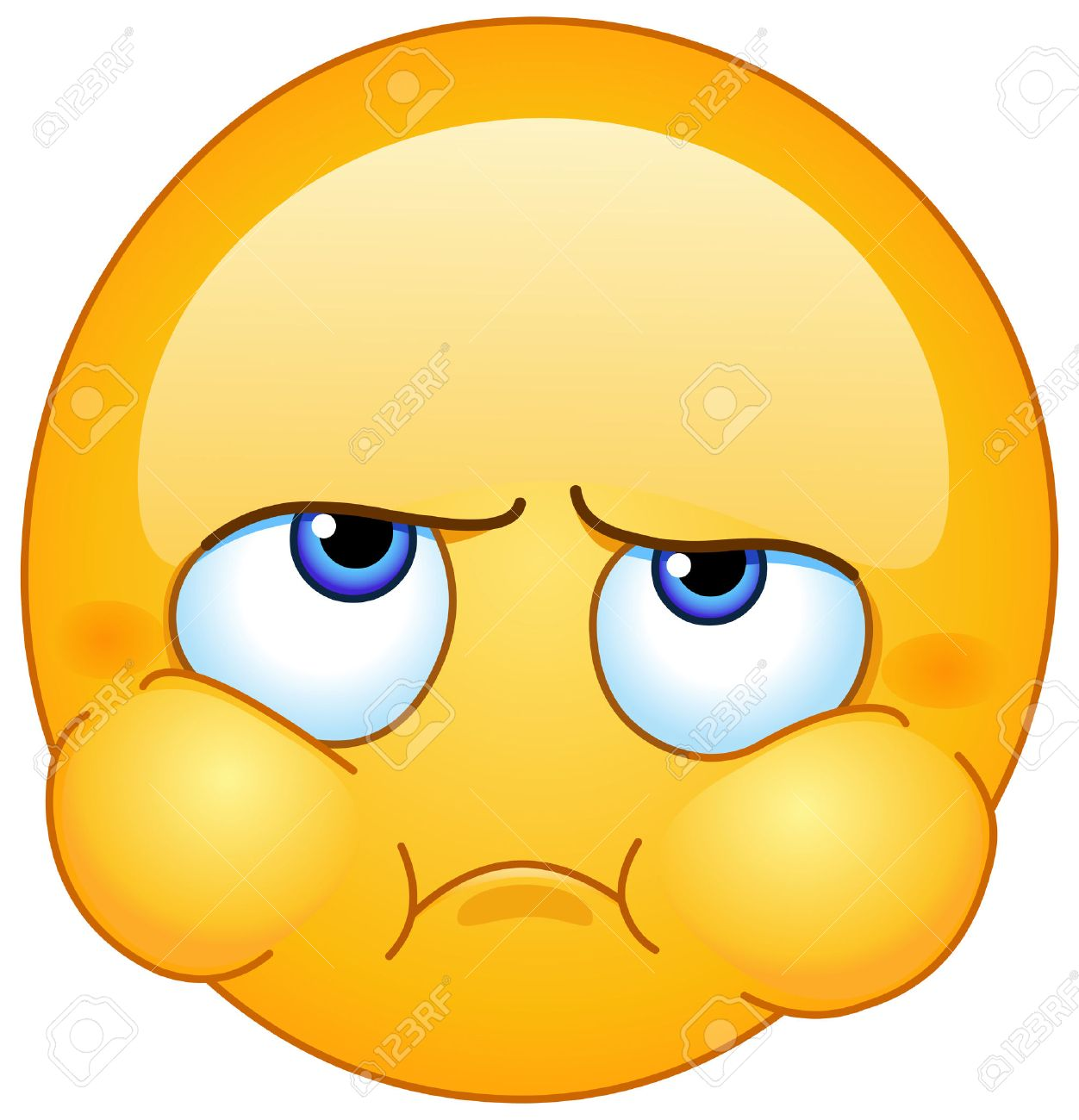 Irritated Face Clipart.