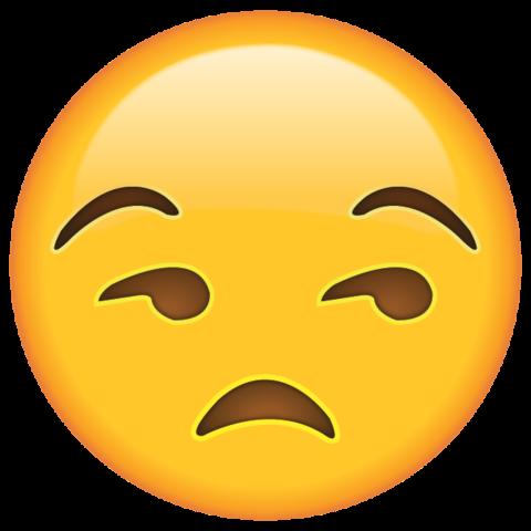 Unamused Face Emoji.