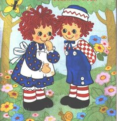 Raggedy Ann and Andy Clip Art.