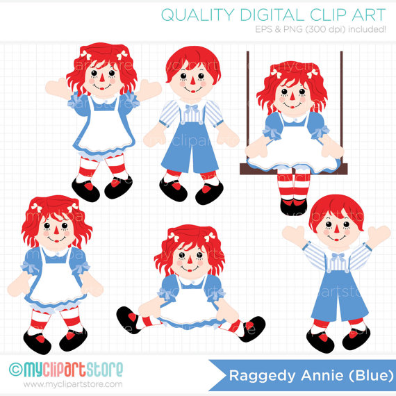 Raggedy ann and andy clipart.