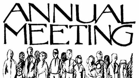 Church Annual Meeting Clipart.
