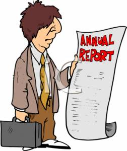 Annual report clipart.