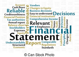 Financial Report Clipart.