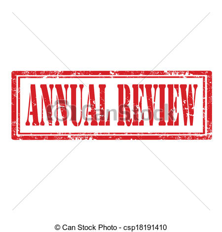 Vector Clip Art of Annual Review.