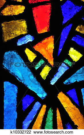 Clip Art of Stained glass at the church of the annunciation.