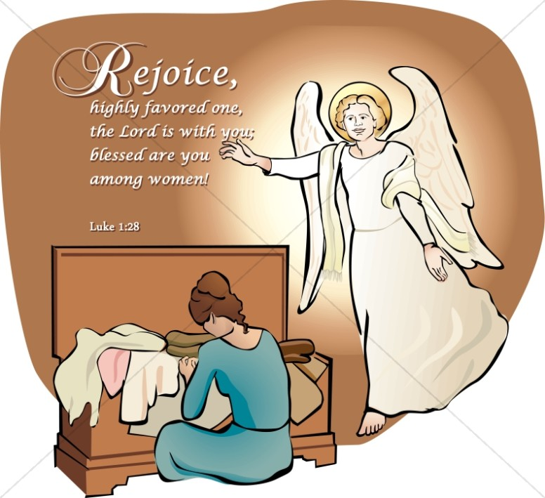 Mary and the Annunciation Clipart.