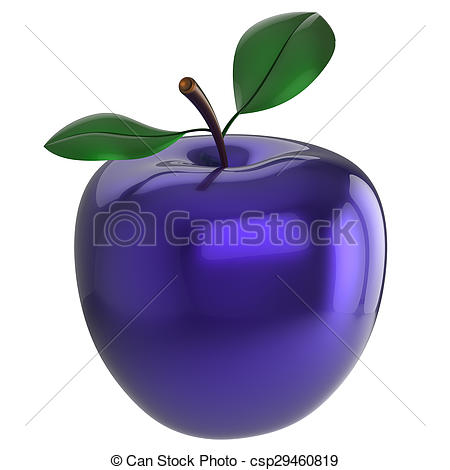 Clipart of Blue apple experiment poison food research nutrition.