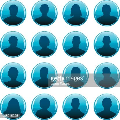 Anonymous Profile Icons premium clipart.