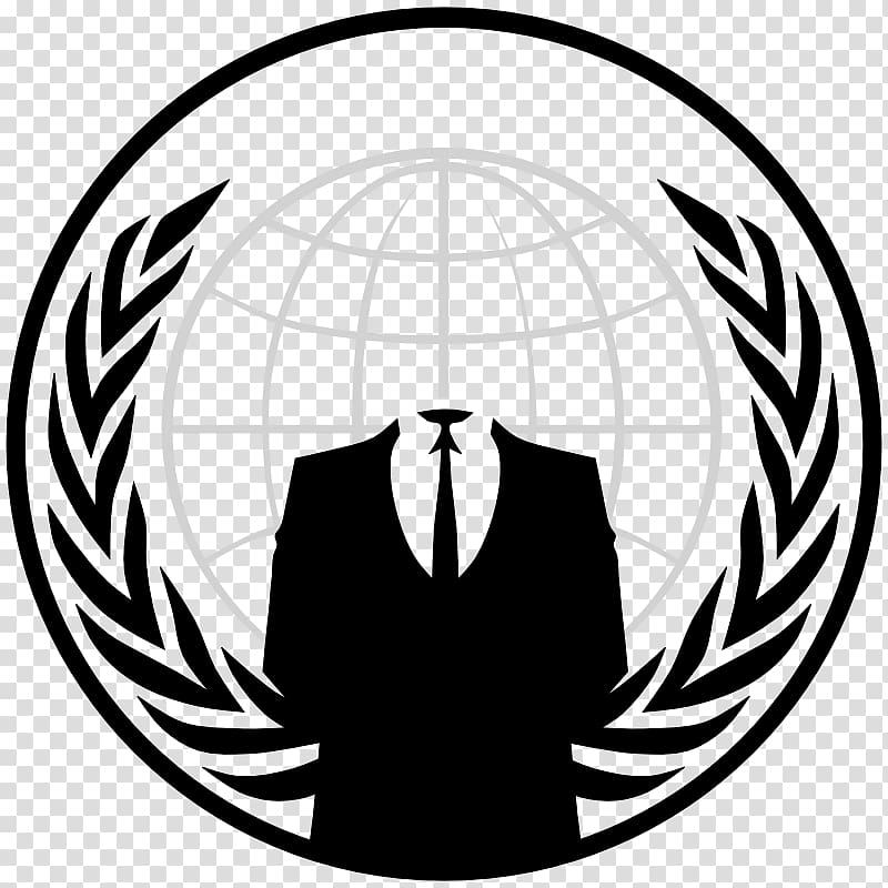 White globe illustration, Anonymous Logo Security hacker.