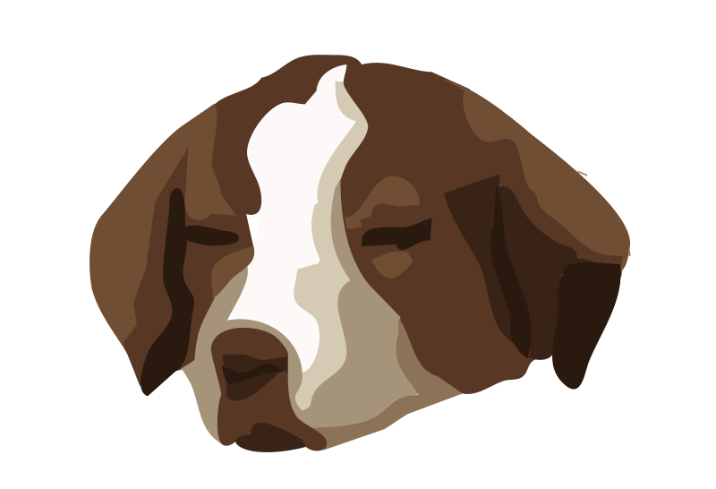 Free Clipart: Bored dog 01.