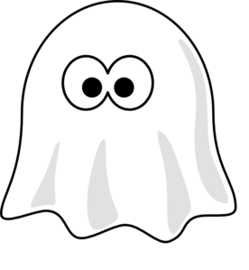 Ghost Outline Clip Art.