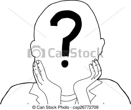 Vector Clipart of Anonymous Person.