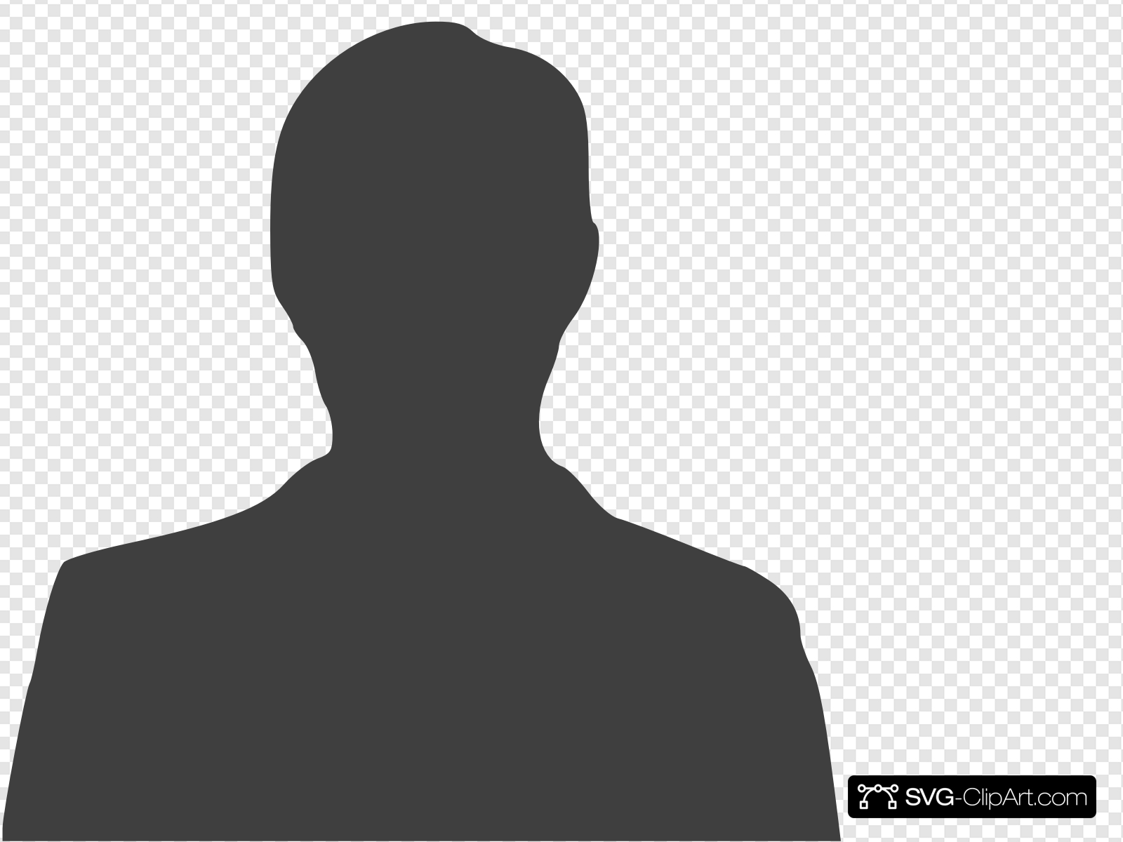 Grey Anonymous Man Clip art, Icon and SVG.