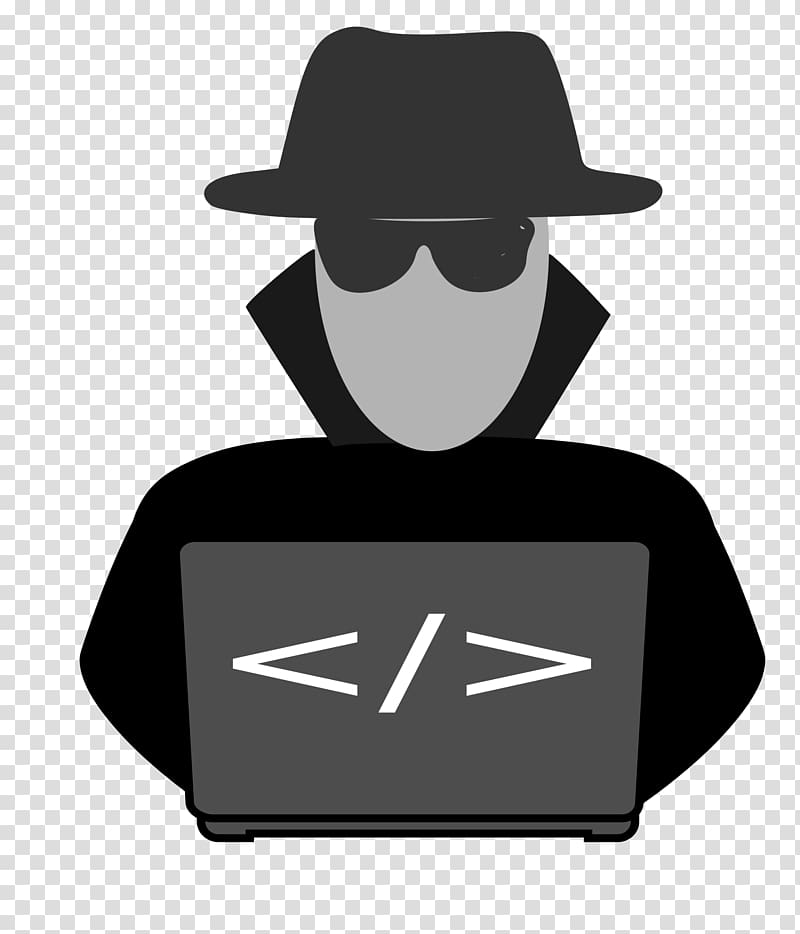Man wearing black hat and sunglasses illustration, Security.
