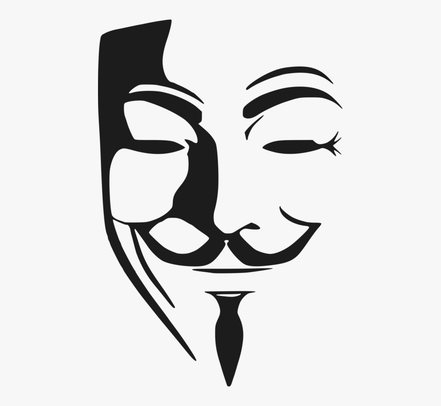 Clip Art Guy Fawkes Mask Drawing.