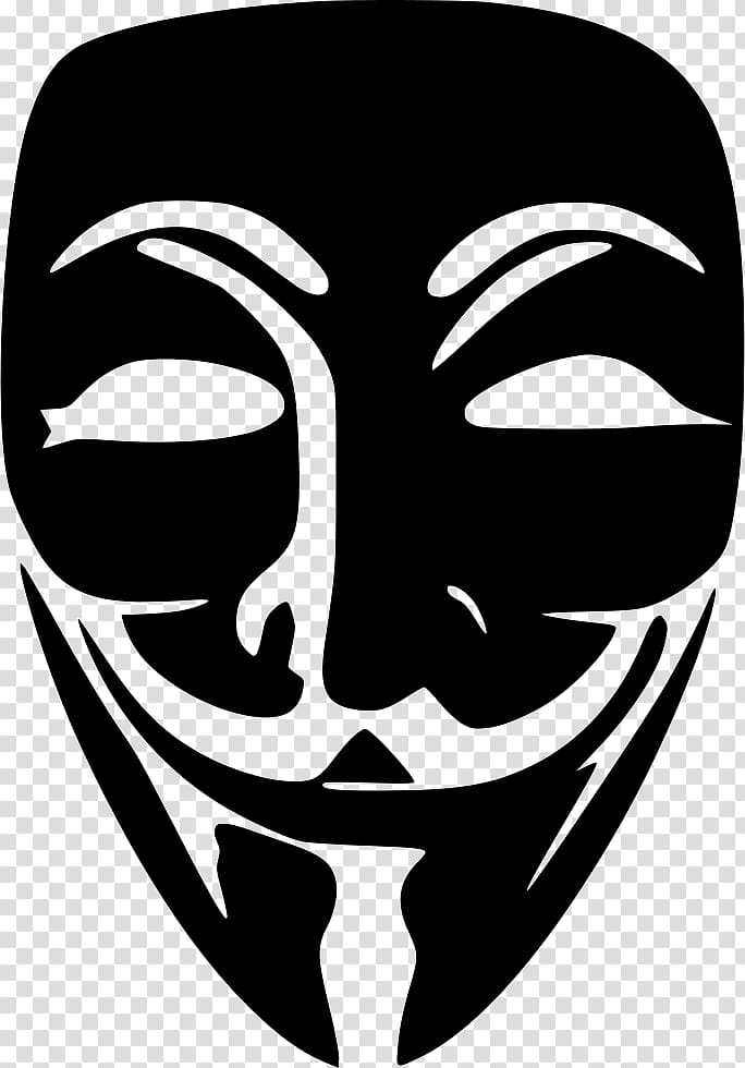Guy Fawkes mask Anonymous, anonymous transparent background.