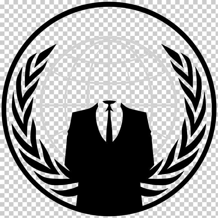 Anonymous Logo Security hacker, anonymous mask, white globe.