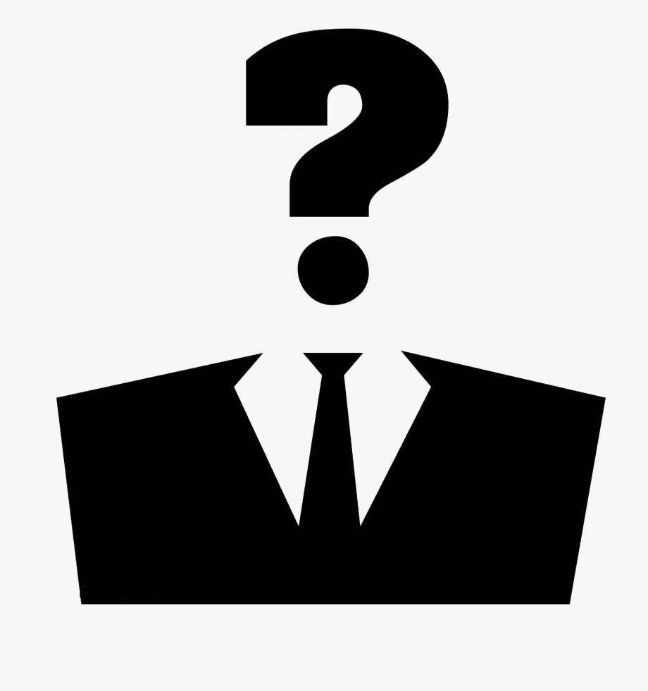 Anonymous Clipart Suit Silhouette.
