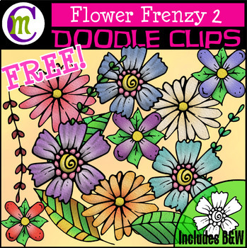 Flower Clipart FREEBIE.