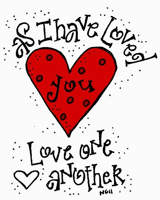 Love One Another Clipart.