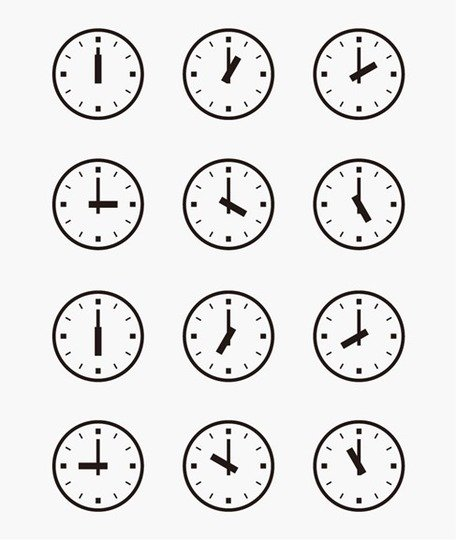 Clocks clipart different time, Clocks different time.