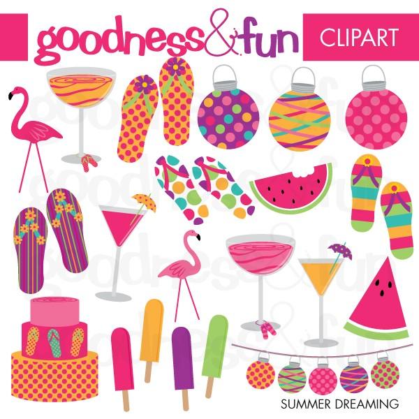 Clip Art Summer Drinks Clipart.