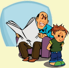 Mad dad clipart.