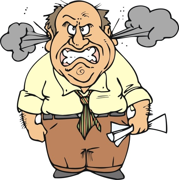 Angry Father Clipart.