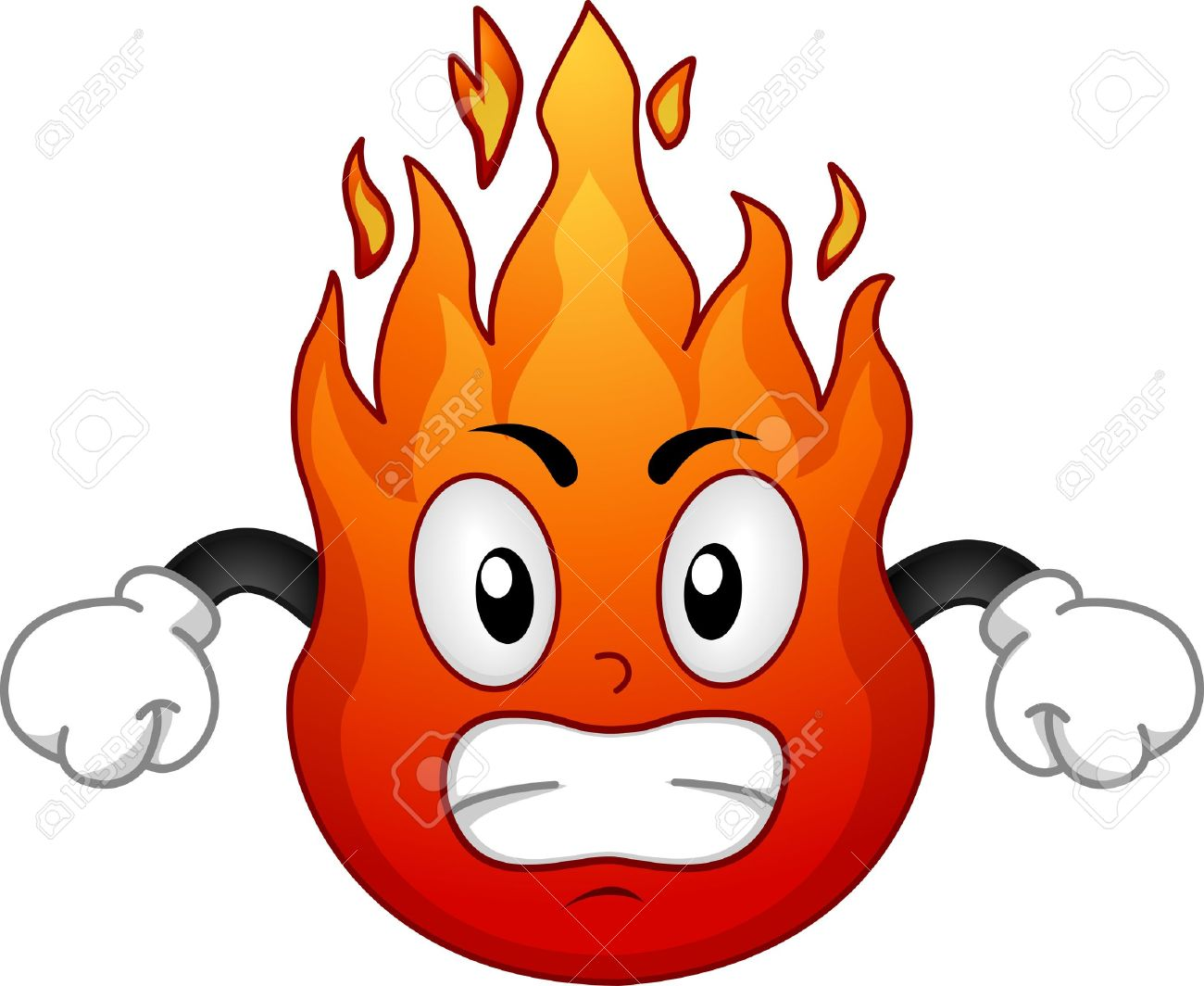 16480 Fire free clipart.