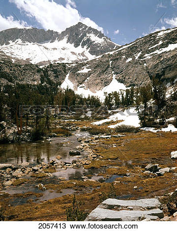 Stock Photo of Outlet Of Lake Dorothy Above Convict Creek, Ansel.